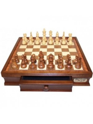 Dal Rossi Italy Chess Set With Drawers 40cm