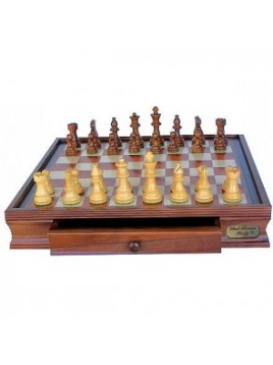 """Dal Rossi Italy Chess Set With Drawers 20"""" (With Weighted Pieces)  Dal Rossi Italy Chess Set With Drawers 20"""" (With Weighted Pieces)"""