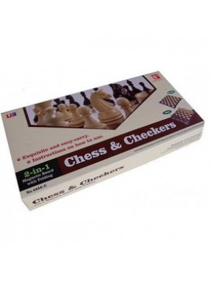"""Magnetic Chess & Checkers (2 in 1) 12"""""""