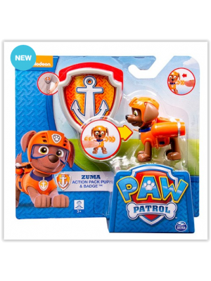 Paw Patrol Zuma Action Pack With Badge